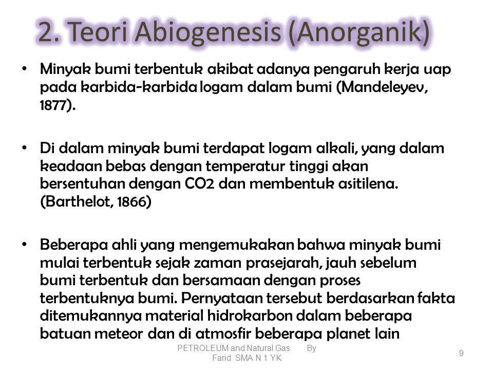 2. Teori Abiogenesis (Anorganik)