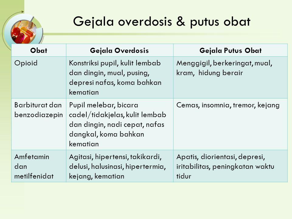 Gejala overdosis & putus obat