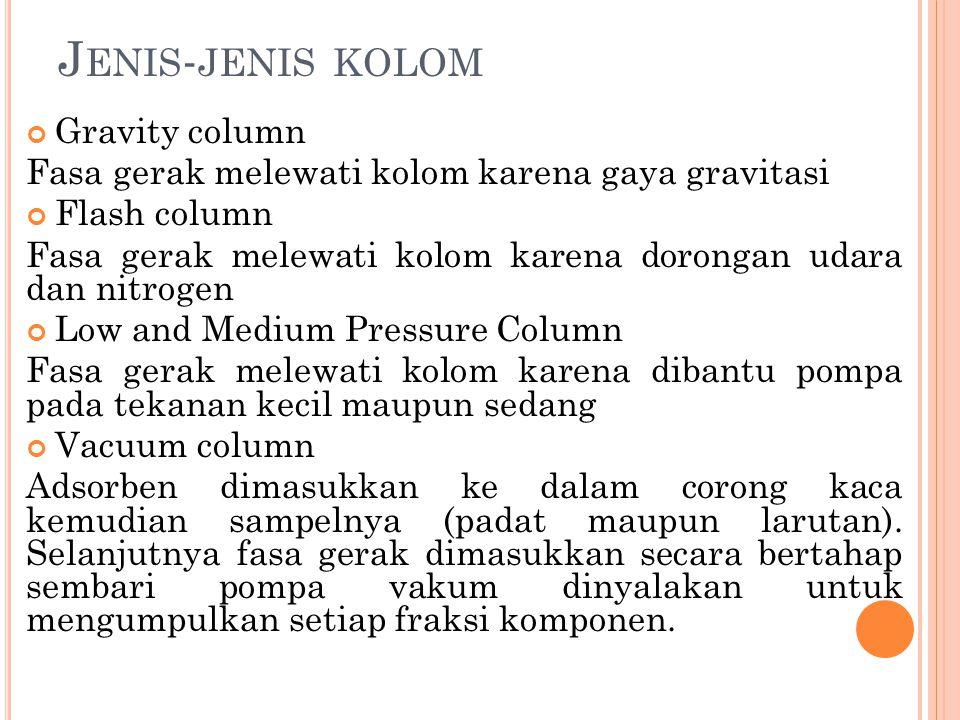 Jenis-jenis kolom Gravity column