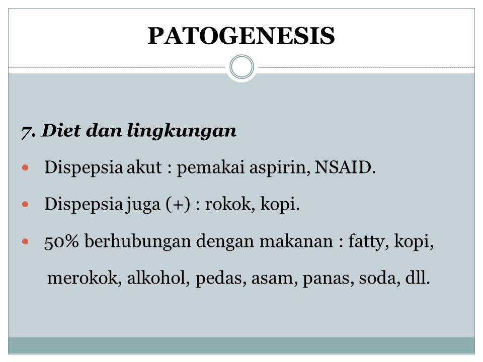 PATOGENESIS 7. Diet dan lingkungan