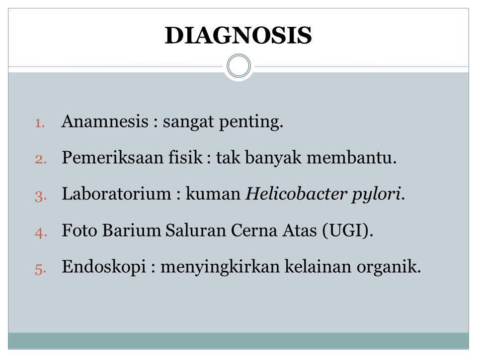 DIAGNOSIS Anamnesis : sangat penting.