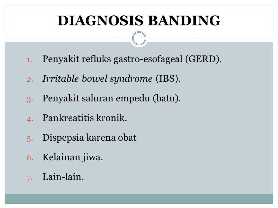 DIAGNOSIS BANDING Penyakit refluks gastro-esofageal (GERD).