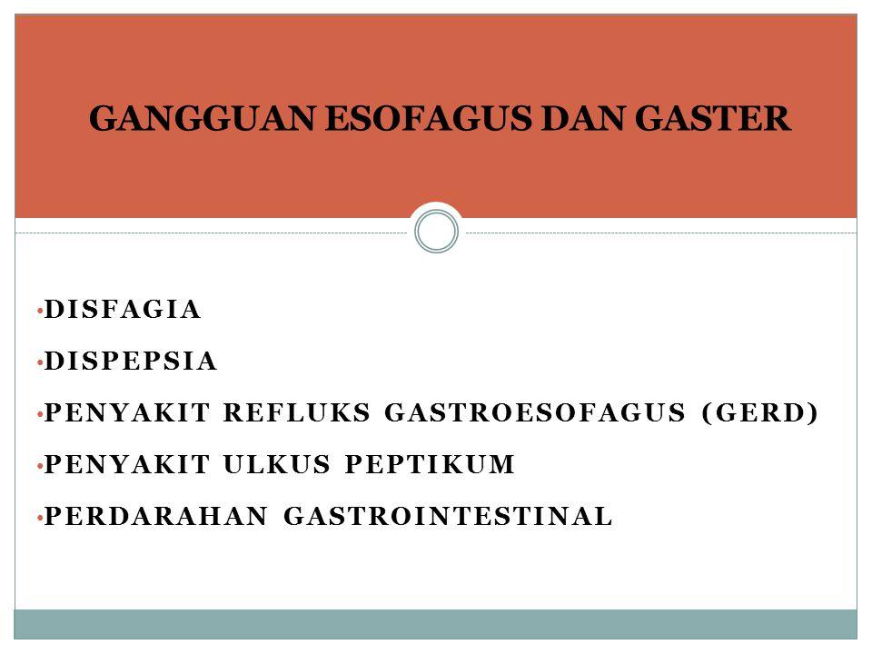 GANGGUAN ESOFAGUS DAN GASTER