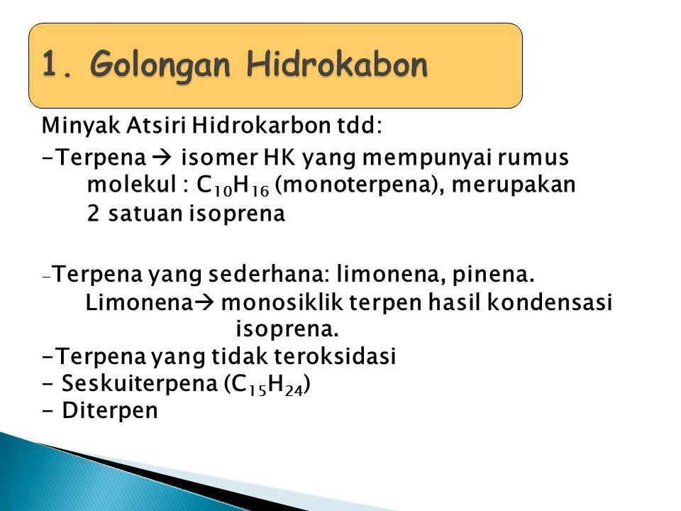 1. Golongan Hidrokabon