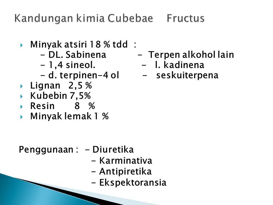Kandungan kimia Cubebae Fructus