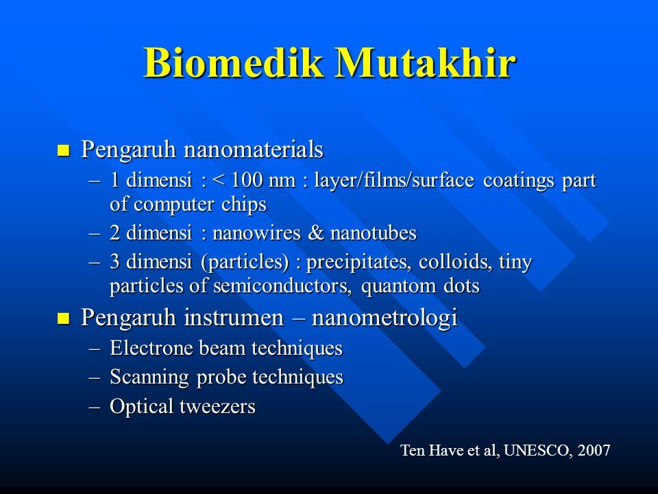 Biomedik Mutakhir Pengaruh nanomaterials