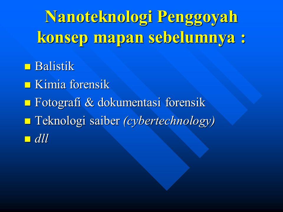 Nanoteknologi Penggoyah konsep mapan sebelumnya :