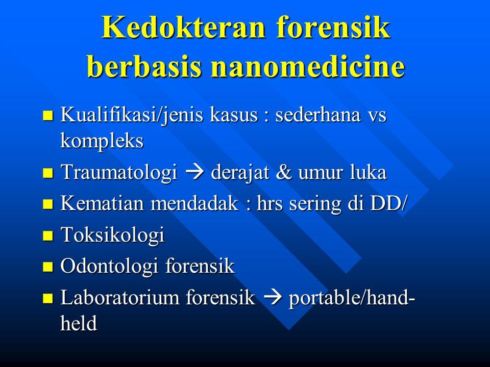 Kedokteran forensik berbasis nanomedicine