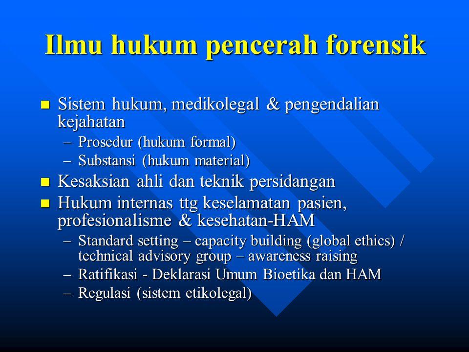 Ilmu hukum pencerah forensik