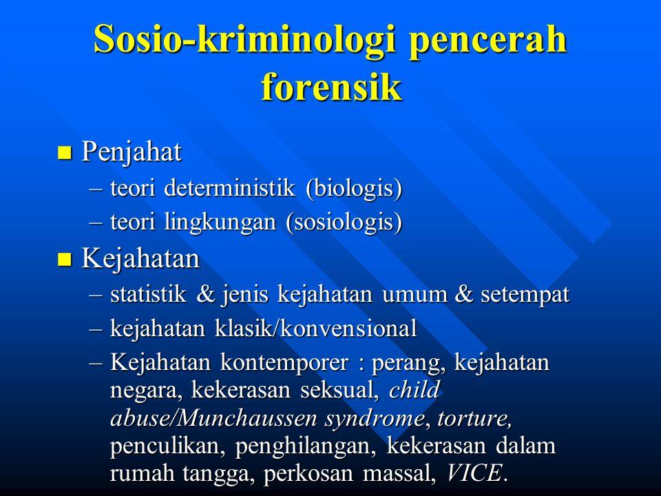 Sosio-kriminologi pencerah forensik