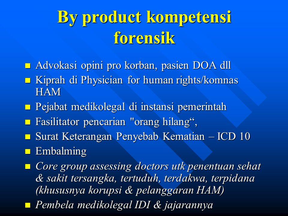 By product kompetensi forensik