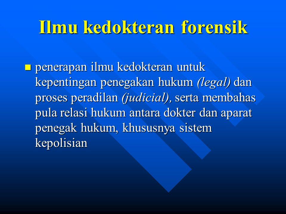 Ilmu kedokteran forensik