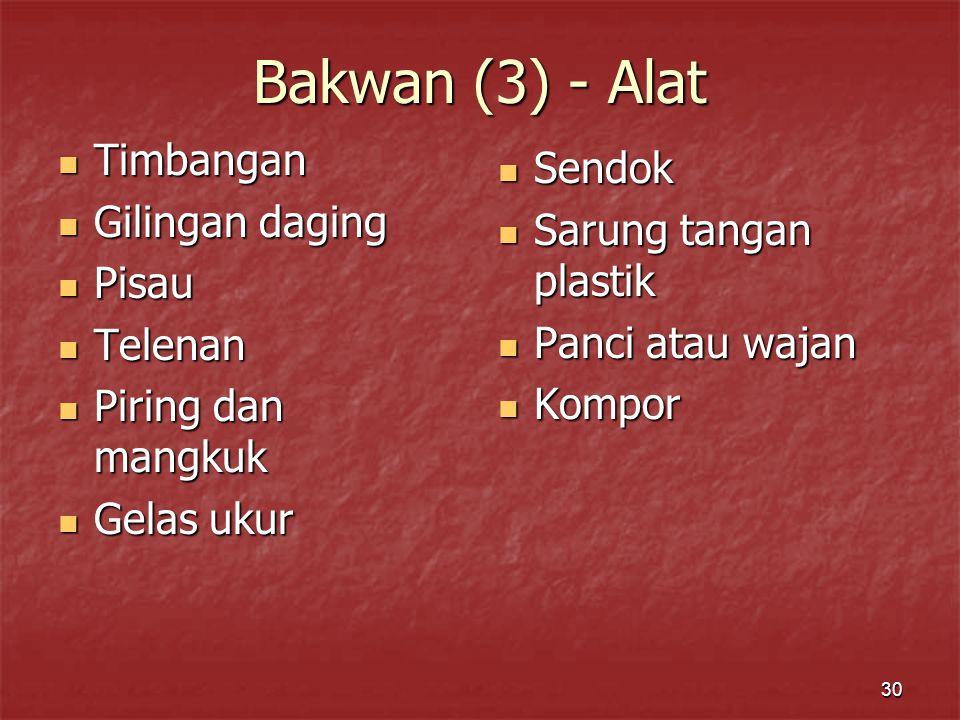 Bakwan (3) - Alat Timbangan Sendok Gilingan daging