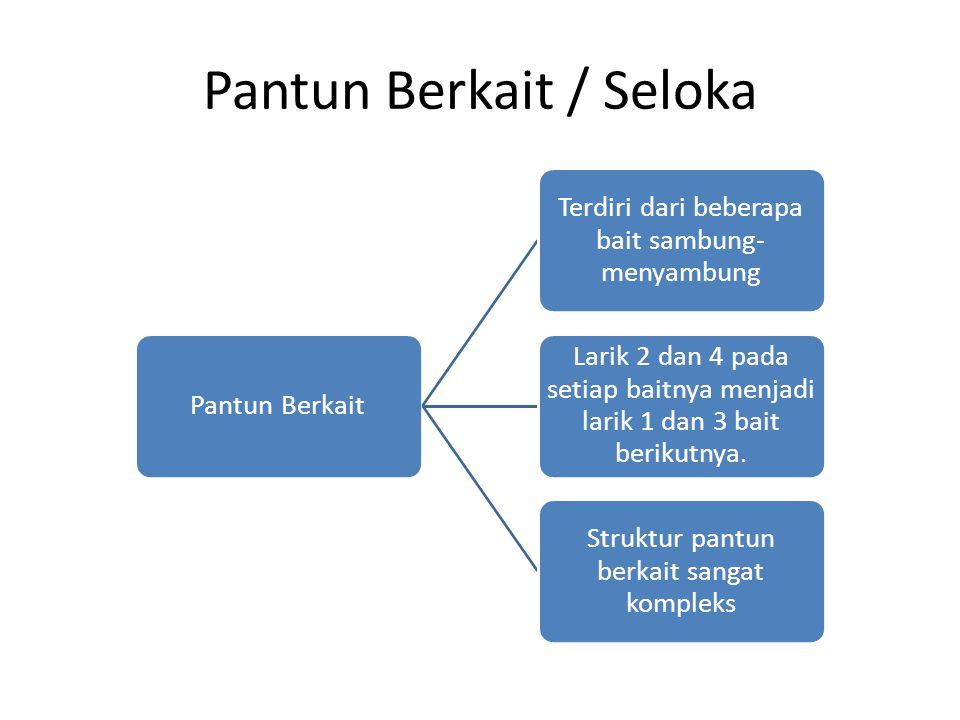 Pantun Berkait / Seloka