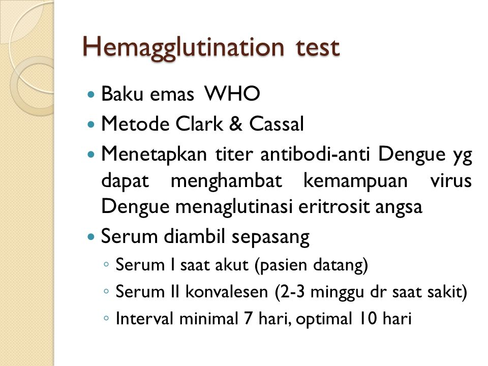 Hemagglutination test