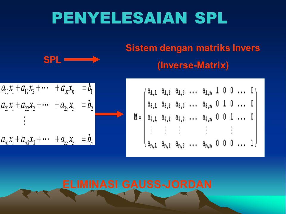 Sistem dengan matriks Invers