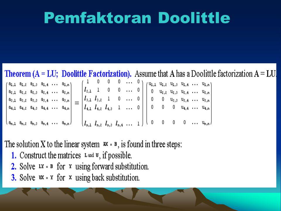 Pemfaktoran Doolittle