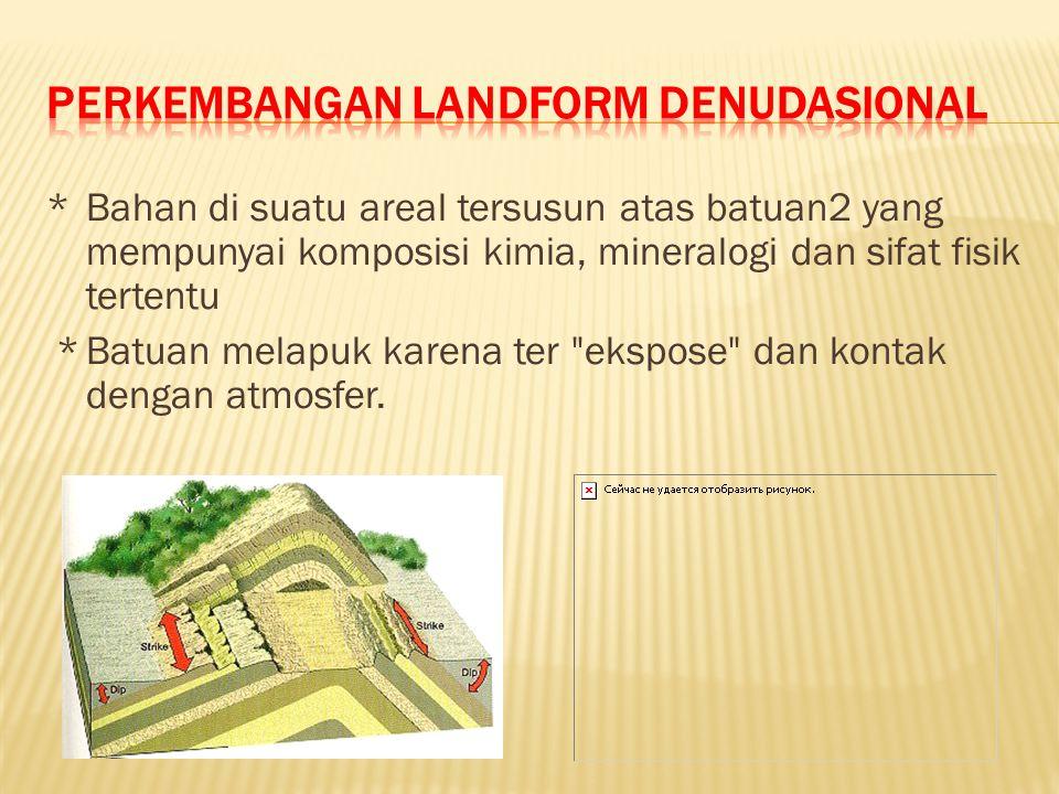 Perkembangan landform denudasional