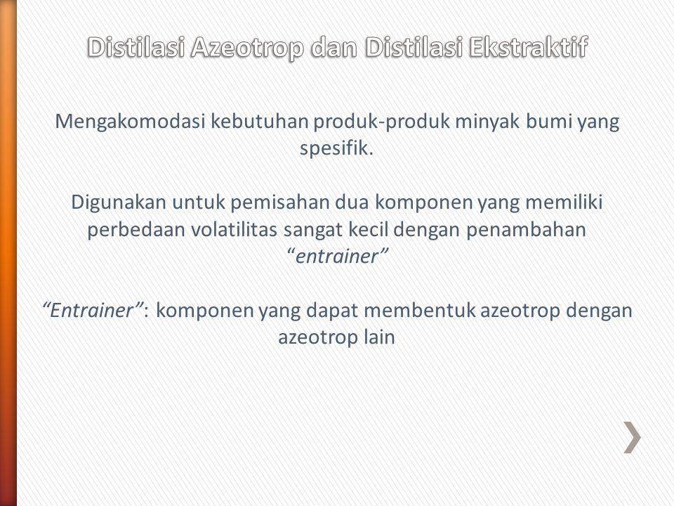 Distilasi Azeotrop dan Distilasi Ekstraktif