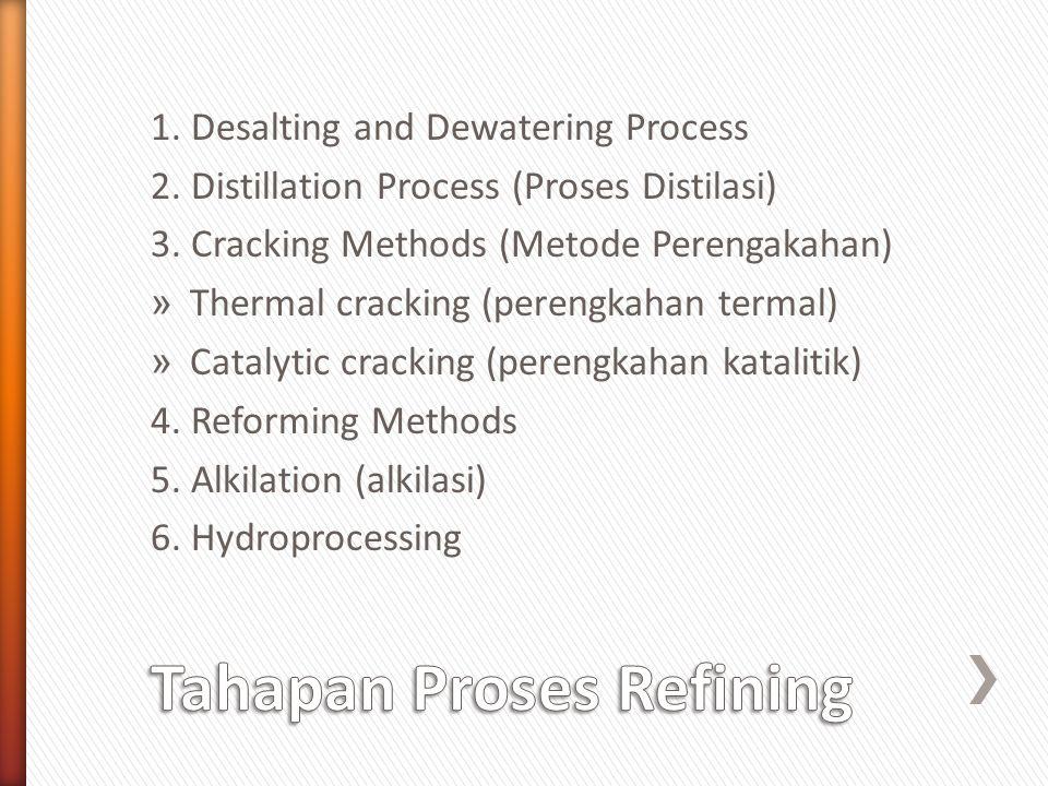 Tahapan Proses Refining