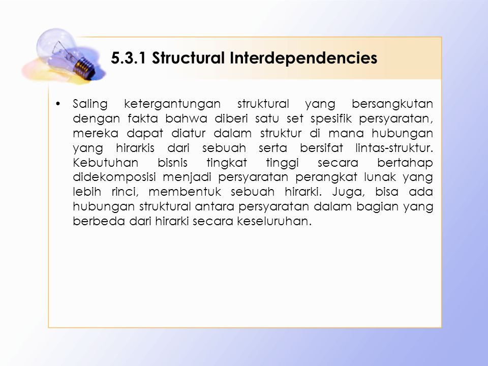 5.3.1 Structural Interdependencies