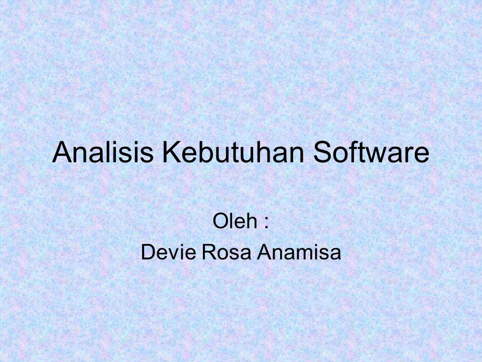 Analisis Kebutuhan Software