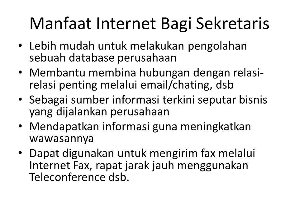Manfaat Internet Bagi Sekretaris