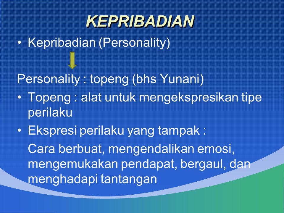 KEPRIBADIAN Kepribadian (Personality)