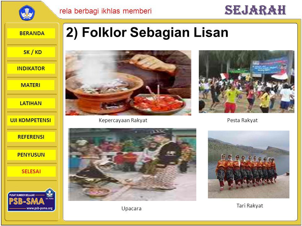 2) Folklor Sebagian Lisan