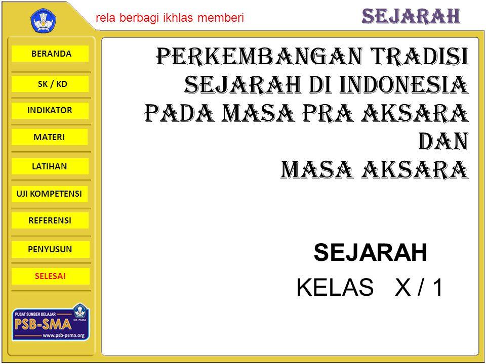 PERKEMBANGAN TRADISI SEJARAH DI INDONESIA PADA MASA PRA AKSARA DAN MASA AKSARA