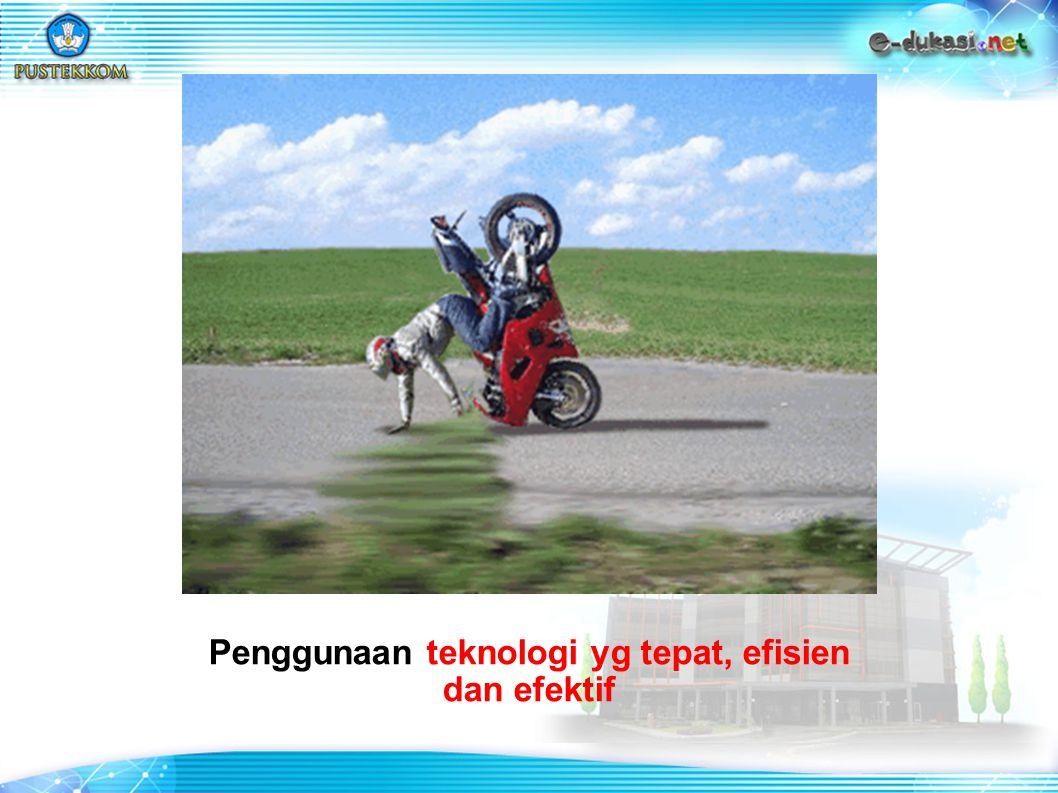 Penggunaan teknologi yg tepat, efisien dan efektif