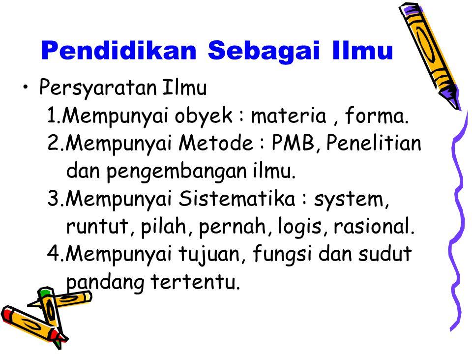 Pendidikan Sebagai Ilmu