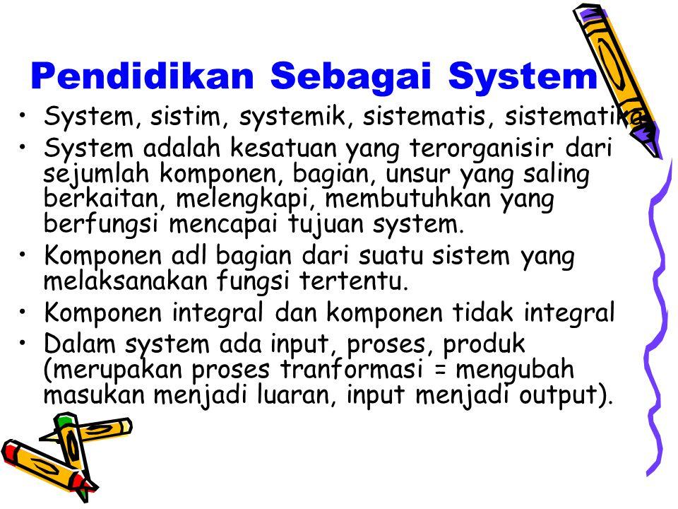 Pendidikan Sebagai System