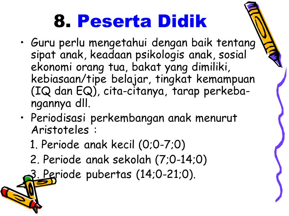 8. Peserta Didik