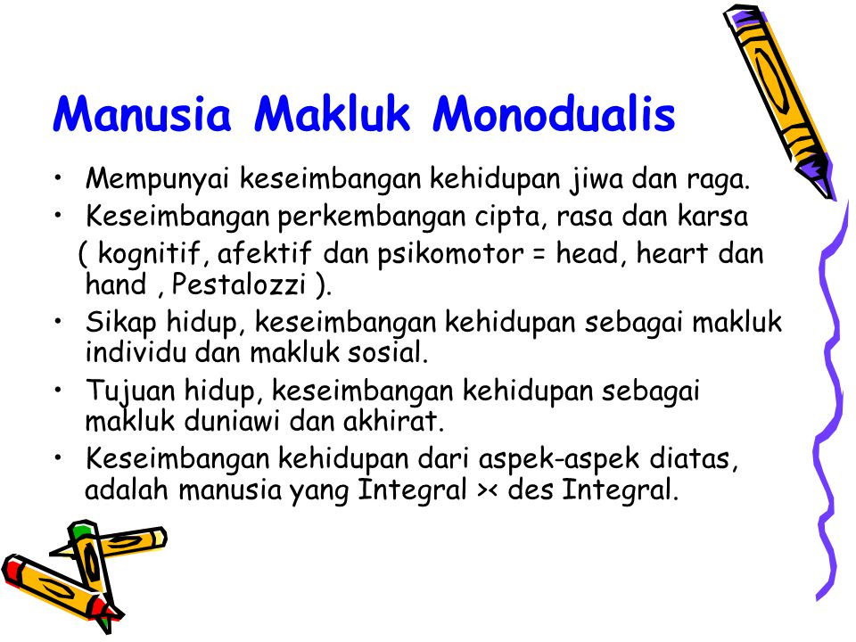 Manusia Makluk Monodualis
