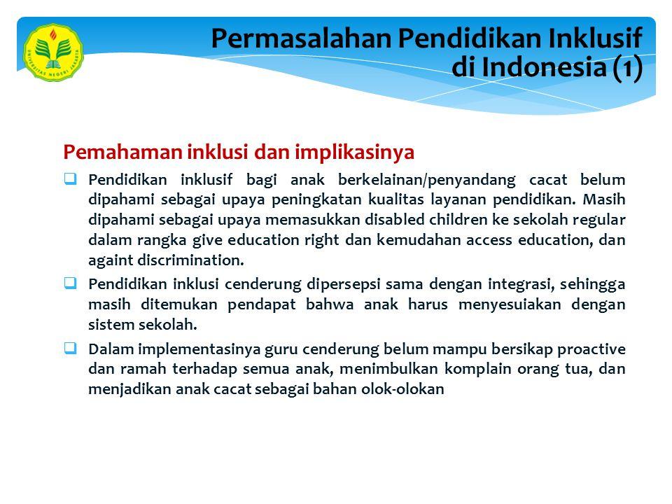 Permasalahan Pendidikan Inklusif di Indonesia (1)