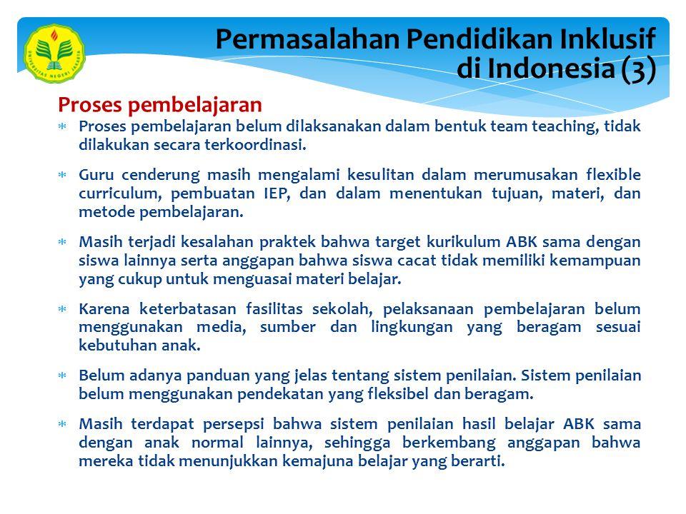 Permasalahan Pendidikan Inklusif di Indonesia (3)