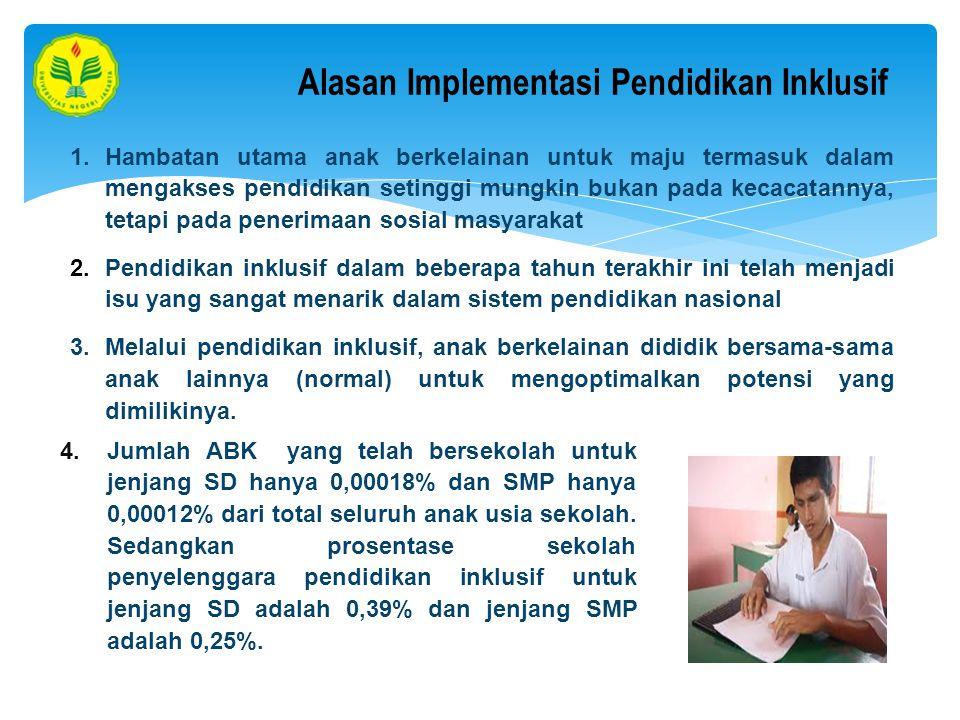 Alasan Implementasi Pendidikan Inklusif
