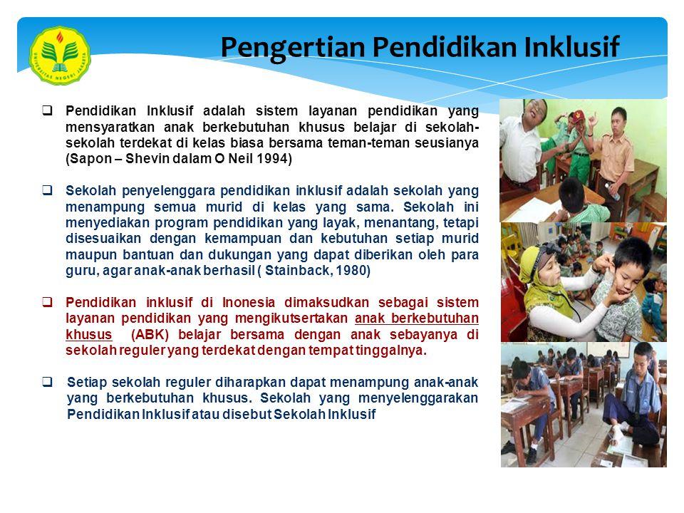 Pengertian Pendidikan Inklusif