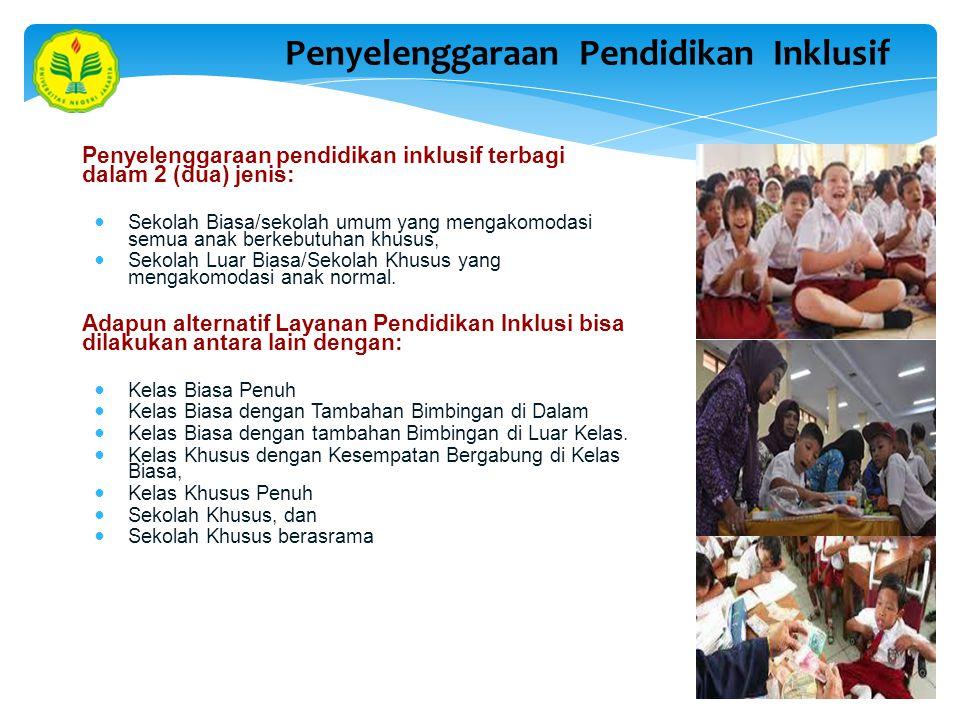 Penyelenggaraan Pendidikan Inklusif