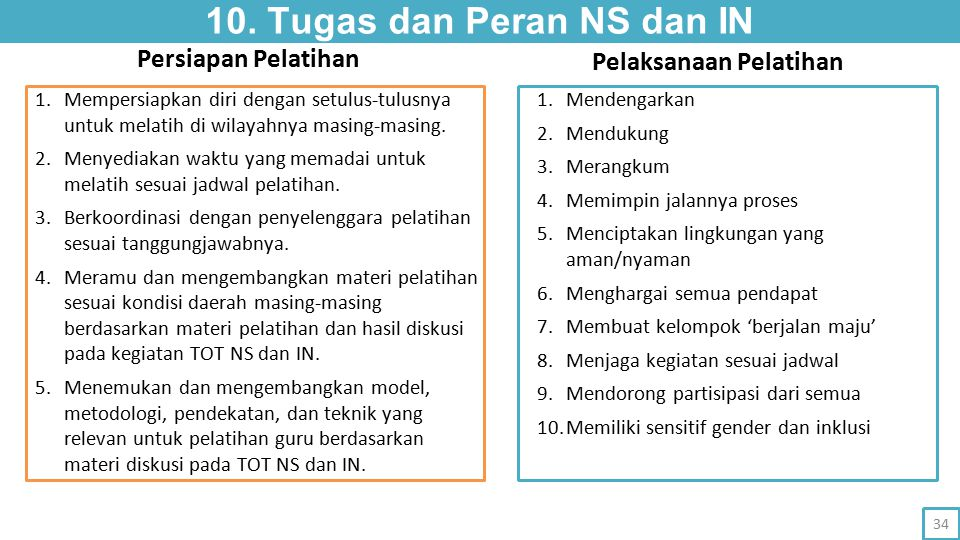 10. Tugas dan Peran NS dan IN