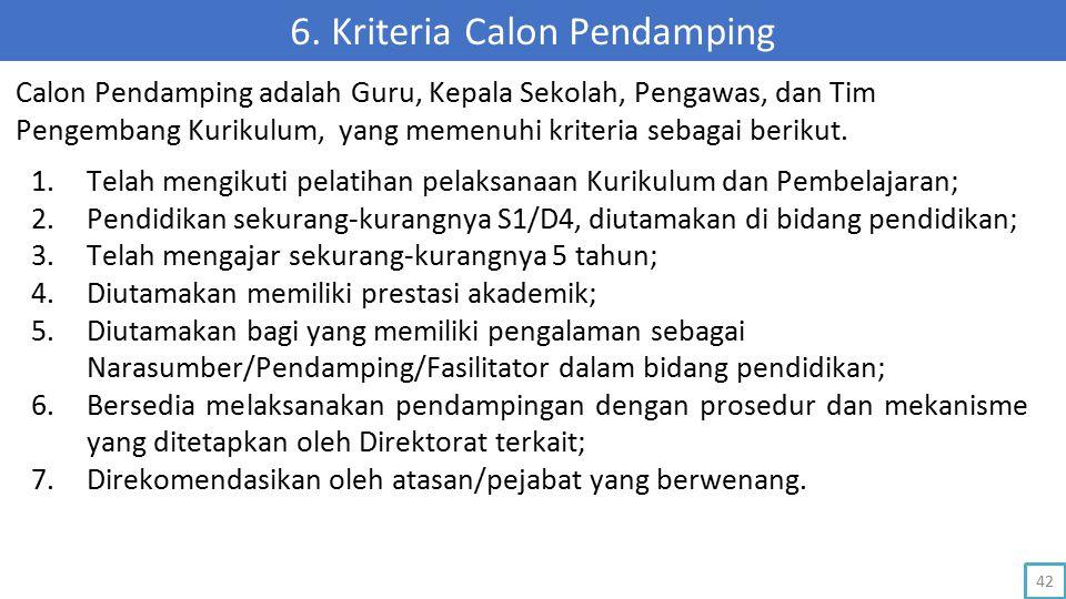 6. Kriteria Calon Pendamping