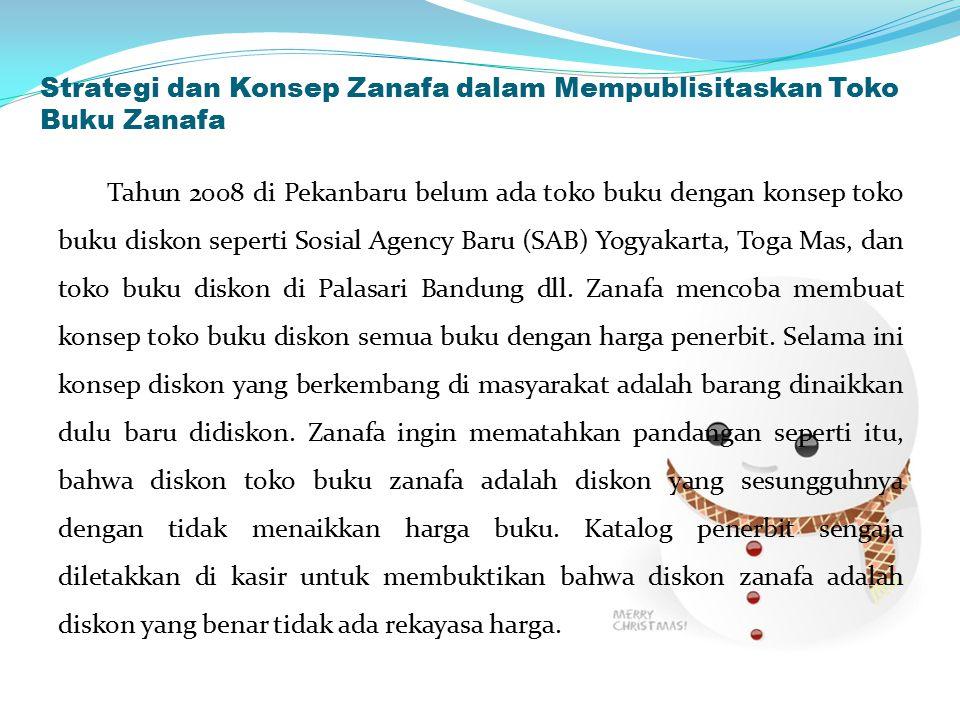 Strategi dan Konsep Zanafa dalam Mempublisitaskan Toko Buku Zanafa