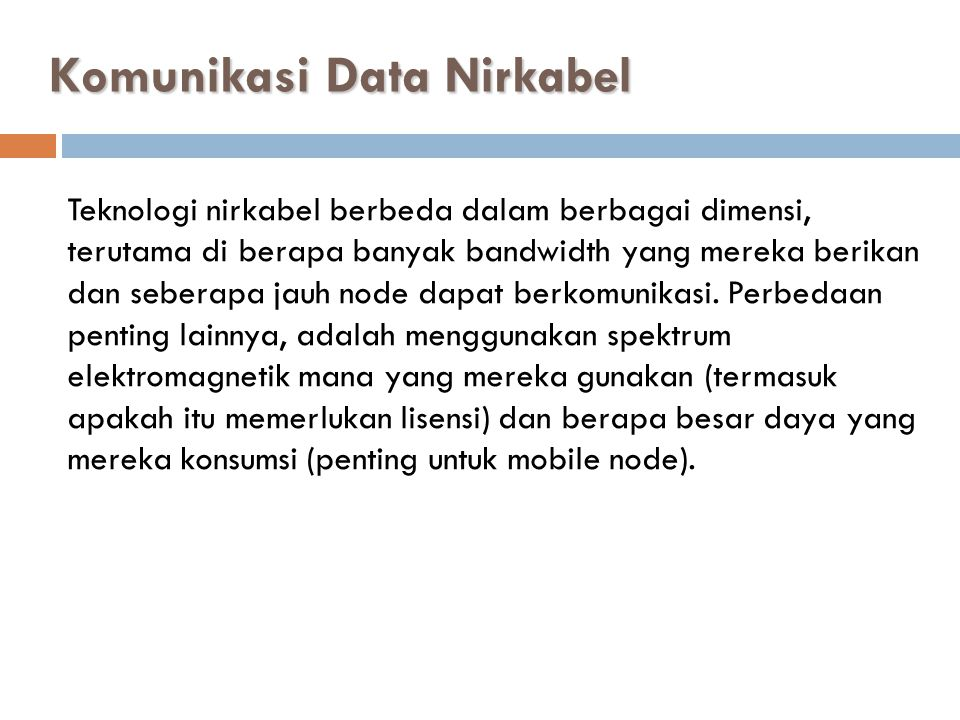 Komunikasi Data Nirkabel