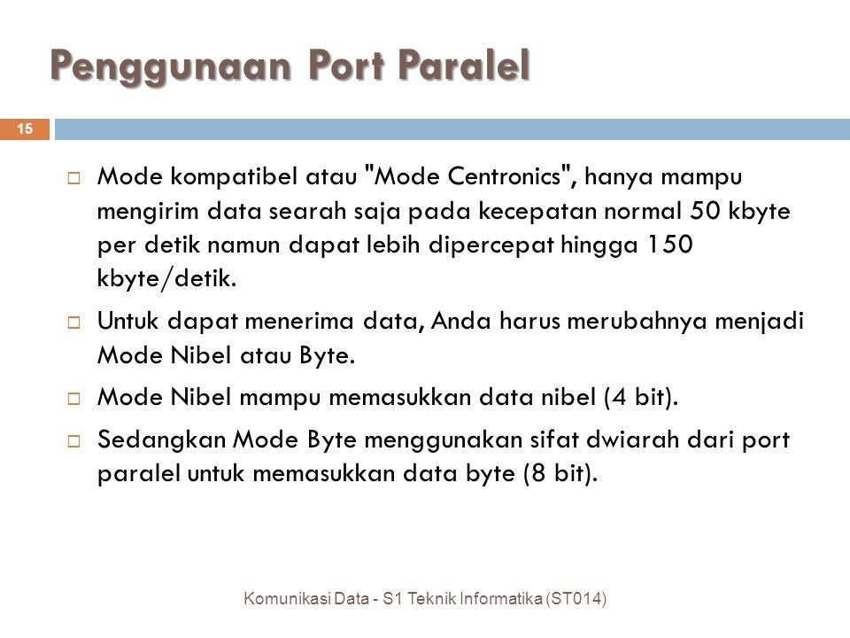 Penggunaan Port Paralel