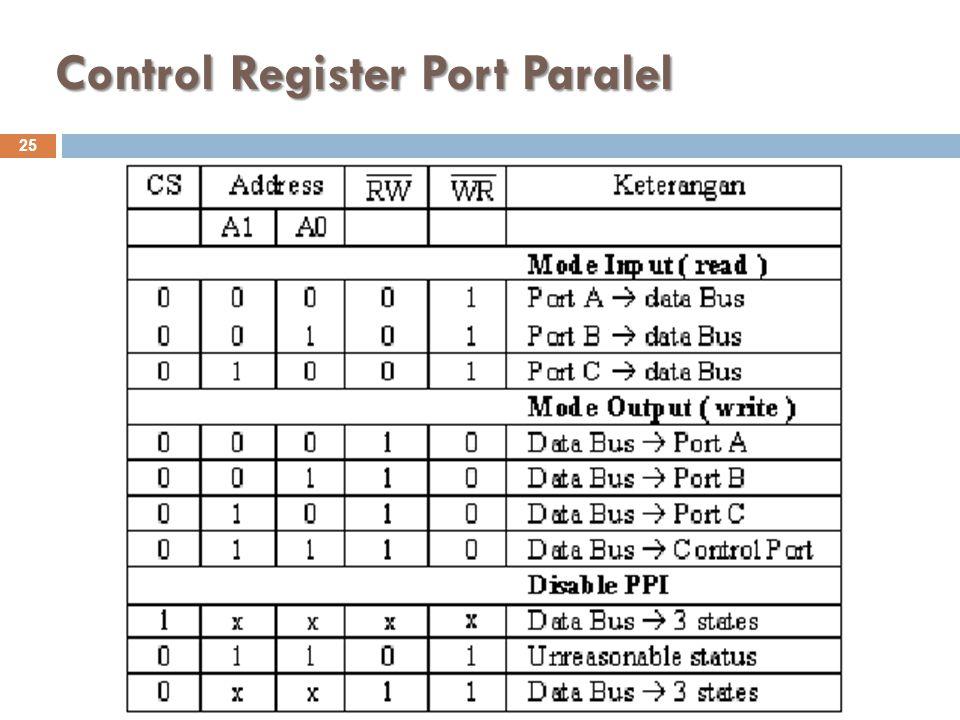 Control Register Port Paralel
