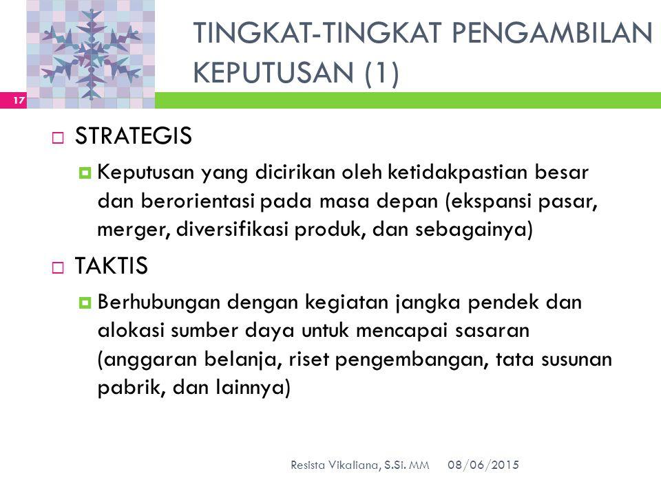 TINGKAT-TINGKAT PENGAMBILAN KEPUTUSAN (1)