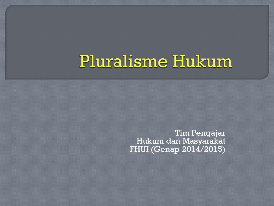 Tim Pengajar Hukum dan Masyarakat FHUI (Genap 2014/2015)