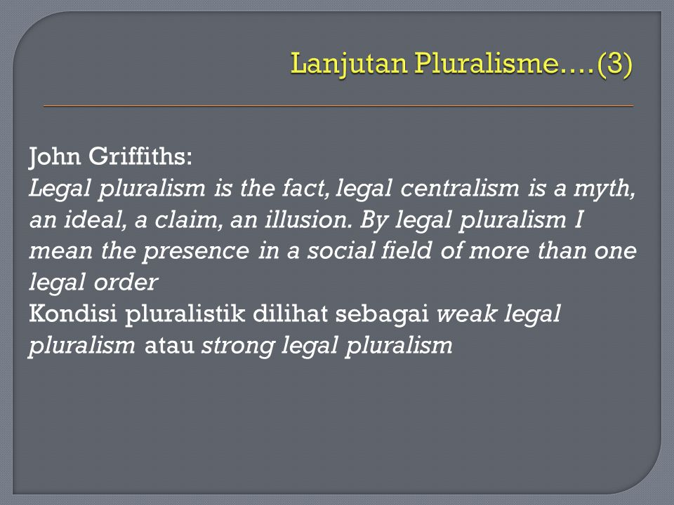 Lanjutan Pluralisme....(3)