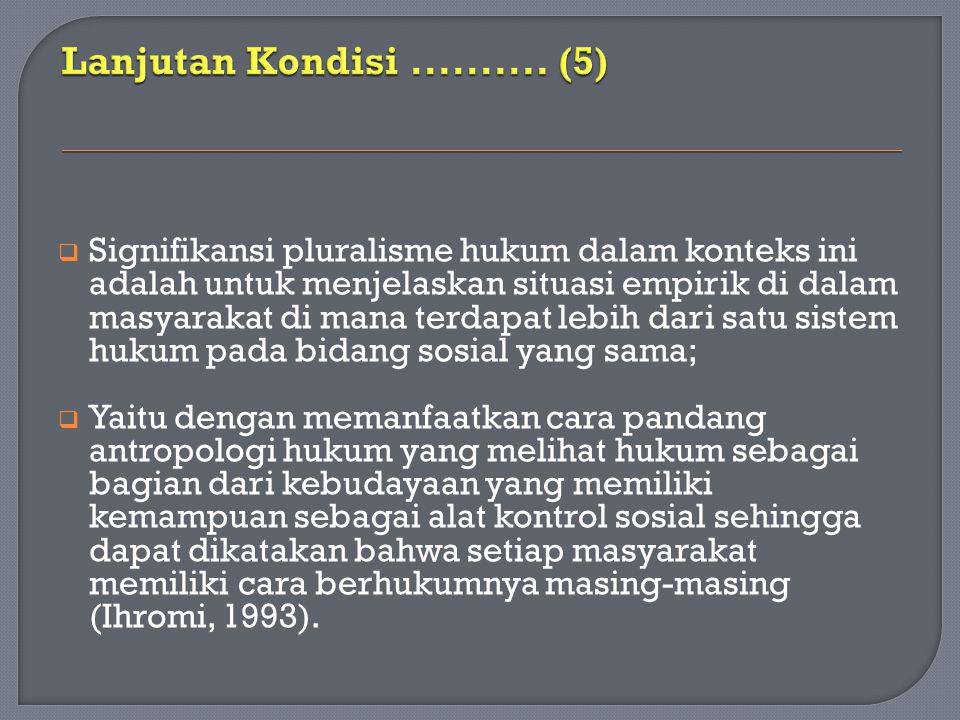 Lanjutan Kondisi .......... (5)